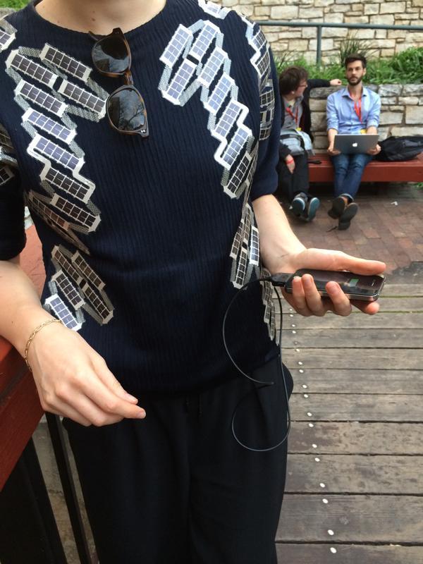 smart clothes, solar panel