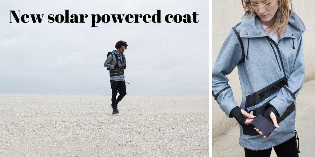 Solar powered coat - smart working